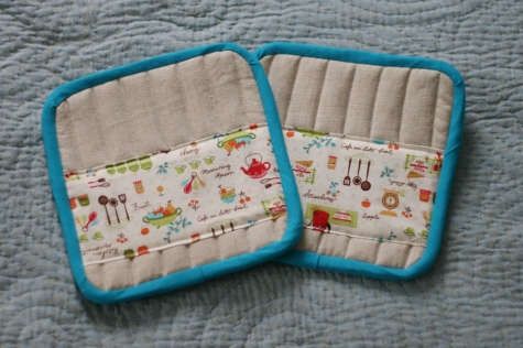 sewing patterns: pot holder tutorial